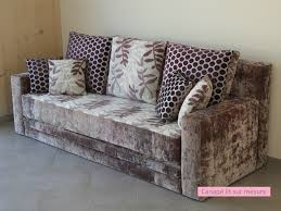 tapissier canapé canapé lit sur mesure de mr et mme b tendance chic tapissier