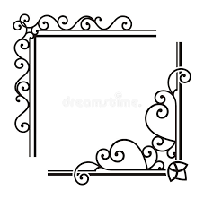 exquisite corner ornamental designs royalty free stock image
