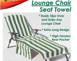 Chaise Lounge Terry Cloth Covers Personalized Sun Beach Pool Lounge Chair Cover