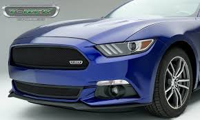 Black 2015 Ford Mustang T Rex Ford Mustang Gt Upper Class Formed Mesh Grille Bumper