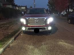 nissan titan fog lights replacing high beam headlight bulb nissan titan xd forum