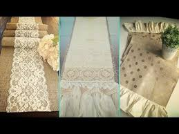 shabby chic table runner diy shabby chic style burlap table runners placemats decor ideas