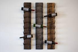 reclaimed wood wine rack grain designs
