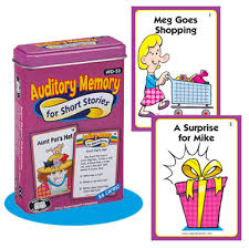 auditory memory for short stories fun deck product info