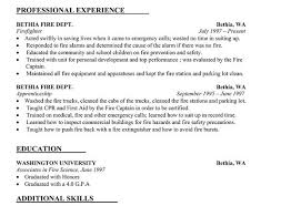 Firefighter Resume Template Firefighter Resume Sample Firefighter Resume Sample Writing