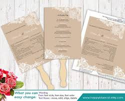Diy Wedding Fan Programs Wedding Program Templates Archives Chryssa Wedding