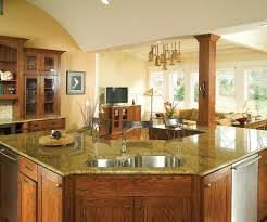 Cream Color Kitchen Cabinets Stunning Mission Kitchen Style With L Shape Stone Kitchen Island