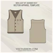safari hunting jacket vest vector template http www 99wtf net