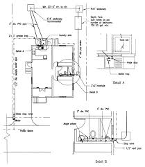 kitchen grease trap design residential plumbing design layout wpyzinfo
