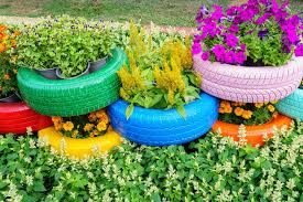 Planter Garden Ideas 29 Flower Tire Planter Ideas For Your Yard And Home
