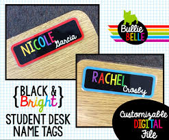 student name tags for desks black bright student desk name tags student nameplates