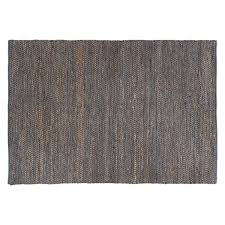 Large Jute Rug Hurley Large Grey Leather And Jute Rug 170 X 240cm Buy Now At