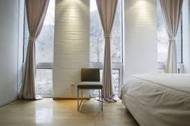Contemporary Window Curtains Contemporary Window Treatment With Brown Curtains Plus White