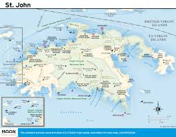 Map Of The Carribean Download Map St John Virgin Islands Major Tourist Attractions Maps