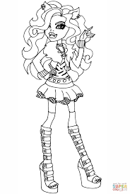 monster high clawdeen coloring pages clawdeen wolf monster high