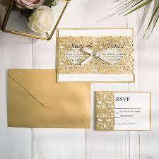 wedding invitations rsvp cards gold laser cut wedding invitations with matching rsvp