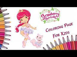 strawberry shortcake coloring book color strawberry