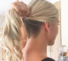 hairstyles for over 70 with cowlick at nape long blond ponytail undercut hair makeup pinterest