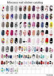 241 designs mixcoco nail foil sticker custom nail wraps nail