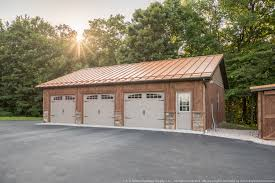 3 car garage door building showcase garage with copper penny metal roof a b