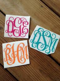 monogram stickers 3 monogram vinyl stickers chickadee s designs