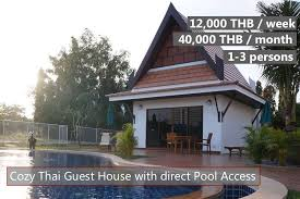 rent a retirement house pool guest house close to the beach in ban