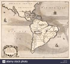 North And South America Map by North America Map 1600s Stock Photos U0026 North America Map 1600s