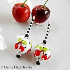 rockabilly earrings cherry earrings cherry jewelry rockabilly cherries