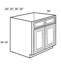 Base CabinetsSinkBaseCabinetClassic White Shaker Kitchen Cabinet - Sink base kitchen cabinet