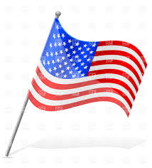 Flag Of The United States Of America Wavy Flag United States Of America Usa Royalty Free Vector Clip