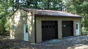 elegant modern cream pole barn garage kits with loft that has