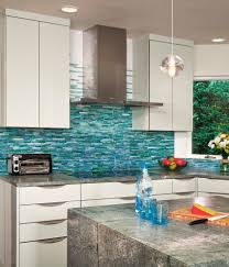 aqua ann sacks glass tile backsplash beach style new york with