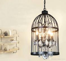 Birdcage Chandeliers Chandeliers French Crystal Birdcage Chandelier Canary Rust