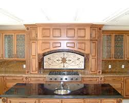 Wood Cabinet Glass Doors Decorative Etched Glass Cabinet Inserts Tuscan Wrought Iron