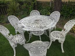 Cast Aluminium Outdoor Furniture by Cast Aluminium Garden Set Table And 6 Chairs In Chelmsford