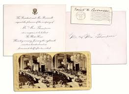 lot detail theodore roosevelt 1906 invitation to the white house