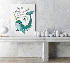 narwhal bathroom narwhal gift nautical wall decor nursery