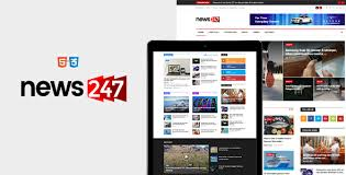 news247 news magazine newspaper html5 template bestwpthemes