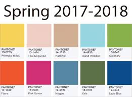 color trends spring 2017 2018 updated back to brain learning