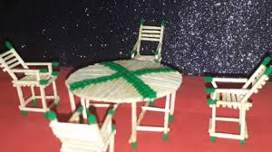 How To Build Dining Room Chairs Matchstick Art How To Make Matchstick Dining Table Youtube