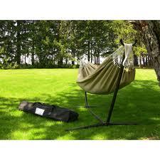 Hayneedle Hammocks Vivere Hammocks Dupione Sand Sunbrella Fabric Single Hammock And