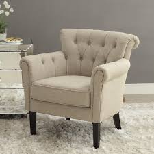 Upholstered Accent Chair Homelegance Barlowe Upholstered Accent Chair In Linen Beyond Stores