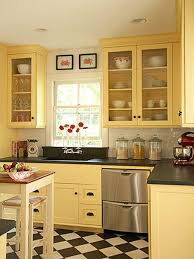 painted kitchen cabinets ideas yellow paint kitchen ideas house decor picture