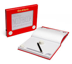 etch a sketch notebook thinkgeek