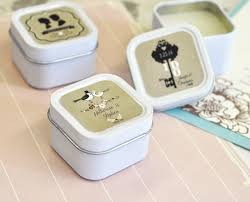 personalized candle favors wedding personalized square candle tins