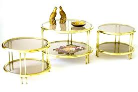 gold and glass coffee table gold glass side table gold glass coffee table pedestal side