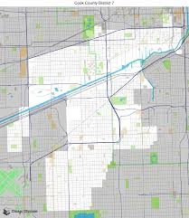 Cook County Il Map Map Of Building Projects Properties And Businesses In District 7