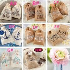 burlap wedding favor bags mix design mini burlap drawstring wedding baby shower muslin candy