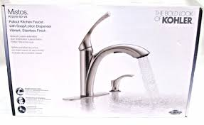 kitchen faucet with sprayer kohler mistos single handle pull out sprayer kitchen faucet in