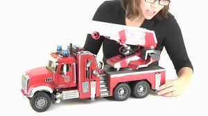 bruder toys logo mack granite fire engine with water pump bruder 02821 product